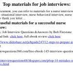 Top 10 Useful Materials Clinical Nurse Manager Interview Questions