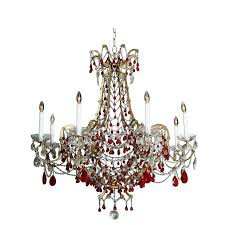 ruby chandelier eight arm chandelier with ruby red crystals for ruby glass chandelier