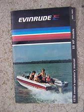 evinrude 55 hp outboard in collectables 1978 evinrude outboard motor 55 hp 55874 55875 owner operator manual boat s