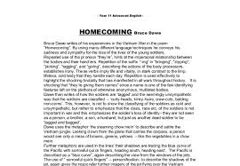 homecoming by bruce dawe a level history marked by teachers com document image preview