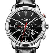 view all timepieces from rotary watches rotary mens chronograph black strap