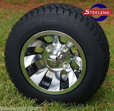 golf car wheels tires golf cart 10 machined revolver wheels and 205 50 10 dot low profile tires 4