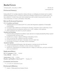 Resume Templates Hvac Technician Sidemcicek Com