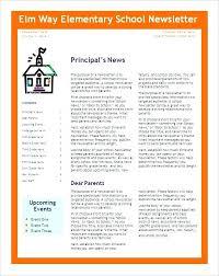 Monthly Newsletter Template For Teachers Monthly Newsletter Template For Teachers Free School Templates 6