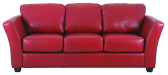 decorating red leather couch