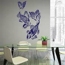 angle the koi fish vinyl wall art decal