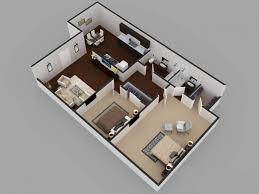 2bhk residential modern house floor plan