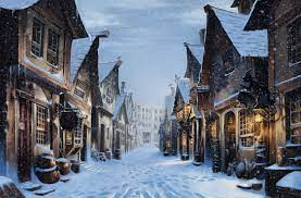 Winter in Harry Potter's Diagon Alley ...