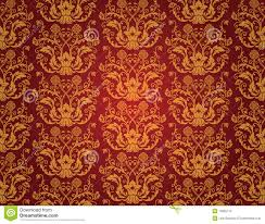 Naadloos Rood Uitstekend Behang Vector Illustratie Illustratie