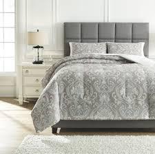 Light Gray Comforter Set Queen Noel Gray Tan Queen Comforter Set On Sale At Verns
