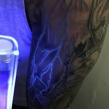 glow in the dark lighting. Lighting Uv Ink Glow In The Dark Mens Arm Tattoo Design