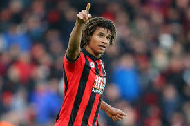 ake. nathan ake of bournemouth celebrates after scoring the winning goal a