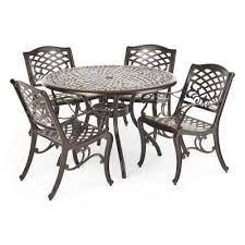 metal patio furniture outdoors