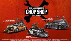 hyundai chop shop the walking dead official site comics tv
