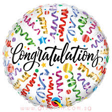 Party Congratulations Streamers Foil Balloon 18inch