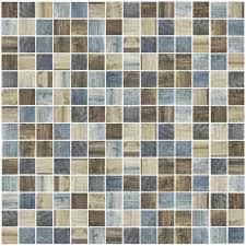 oak vintage mosaic tile 1 x for floor and wall s ceramic flower blue image 0 vintage mosaic tile