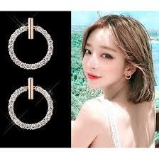 <b>S925 silver needle</b> earrings small <b>round</b> earrings R302 | Shopee ...