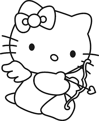 Free printable coloring pages and book for kids. Hello Kitty Valentine Coloring Pages Coloring Home