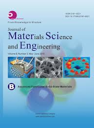 Journal Of Materials And Design Impact Factor Journals David Publishing Company