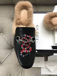 gucci uni princetown leather slipper with kingsnake new condition