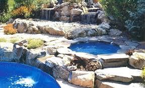 fashionable pool and hot tub combo elegant in ground hot tubs swimming pools steel wall above