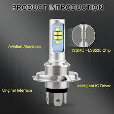 Đèn Pha LED Siêu Sáng Cho Xe Máy H4 HS1 ATV (6000K)   Vida