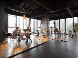interior office space. the overriding tone and aesthetic of space is raw with special attention paid to office interior