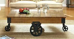 coffee table with casters coffee table with wheels factory cocktail table solid top with wheels rustic coffee table with casters