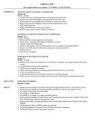 Warehouse Handler Resume Samples Velvet Jobs S Sevte