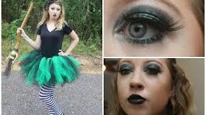 wicked witch costume makeup diy tutu