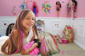 make hair extensions for your doll and you it s easy with the my game kit works with all size dolls