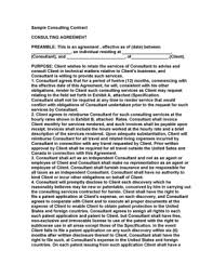 Free Consulting Agreement Template Word Forms - Fillable & Printable ...