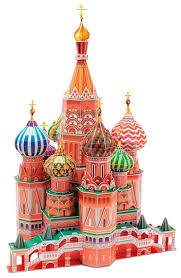 Купить 3D-пазл <b>CubicFun</b> Собор Василия Блаженного (MC093h ...