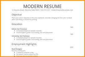 Simple Resume Format Example Of A Simple Resume Format Simple Resume