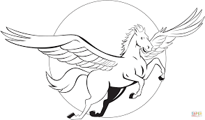 Small Picture Flying Pegasus coloring page Free Printable Coloring Pages