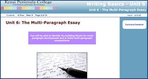 writing basics skillscommons writing basics unit 6 the multi paragraph essay