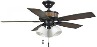 details about hampton bay ceiling fan light kit 5 blade 42 in led indoor outdoor natural iron