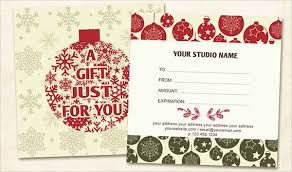 christmas gift card templates gift certificate template christmas condo financials com