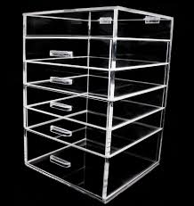 hot selling 6 drawer acrylic makeup organizer clear plastic for large with drawers decor