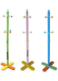 Toddler Coat Rack Kiddi Style Childrens Crayon Wooden Coat Stand NEW Kids Toddler Rack 16