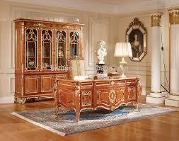 home office desk vintage design. Luxury Executive Office Desk, Retro Wood Carving Table/Writing Graceful Home Desk Vintage Design B