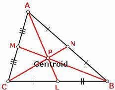 how to find centroid of a triangle. medians of triangles properties how to find centroid a triangle