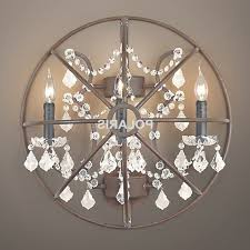 35 ideas of chandelier wall sconce pertaining to crystal sconces design 13