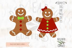 gingerbread man and woman. Modren And Gingerbread Man Woman In SVG DXFPNG EPS Example Image 1 With Man And Woman I