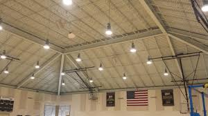 home gym lighting. the 400w metal halide lights in this gym buzzed loudly flickered took over 5 home lighting c