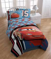 com disney pixar cars 95 twin 3 piece blue sheet set with and lightning mcqueen