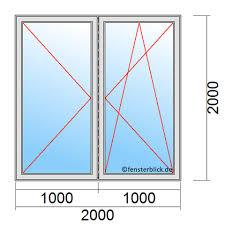 Fenster 200x200cm Balkontüren 2000x2000mm Fensterblickde