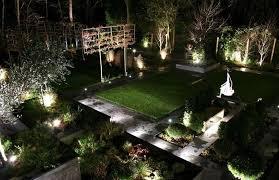 the best solar garden lights showing garden with lights