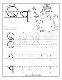 Small Picture Printable letter Q tracing worksheets for preschool Printable