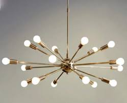 mid century modern polished brass sputnik chandelier light fitting 18 arm vinterior
